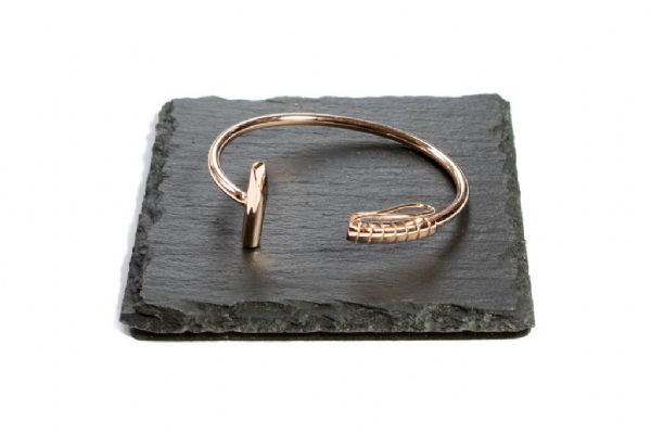 Rose Gold Polo Mallet Bangle